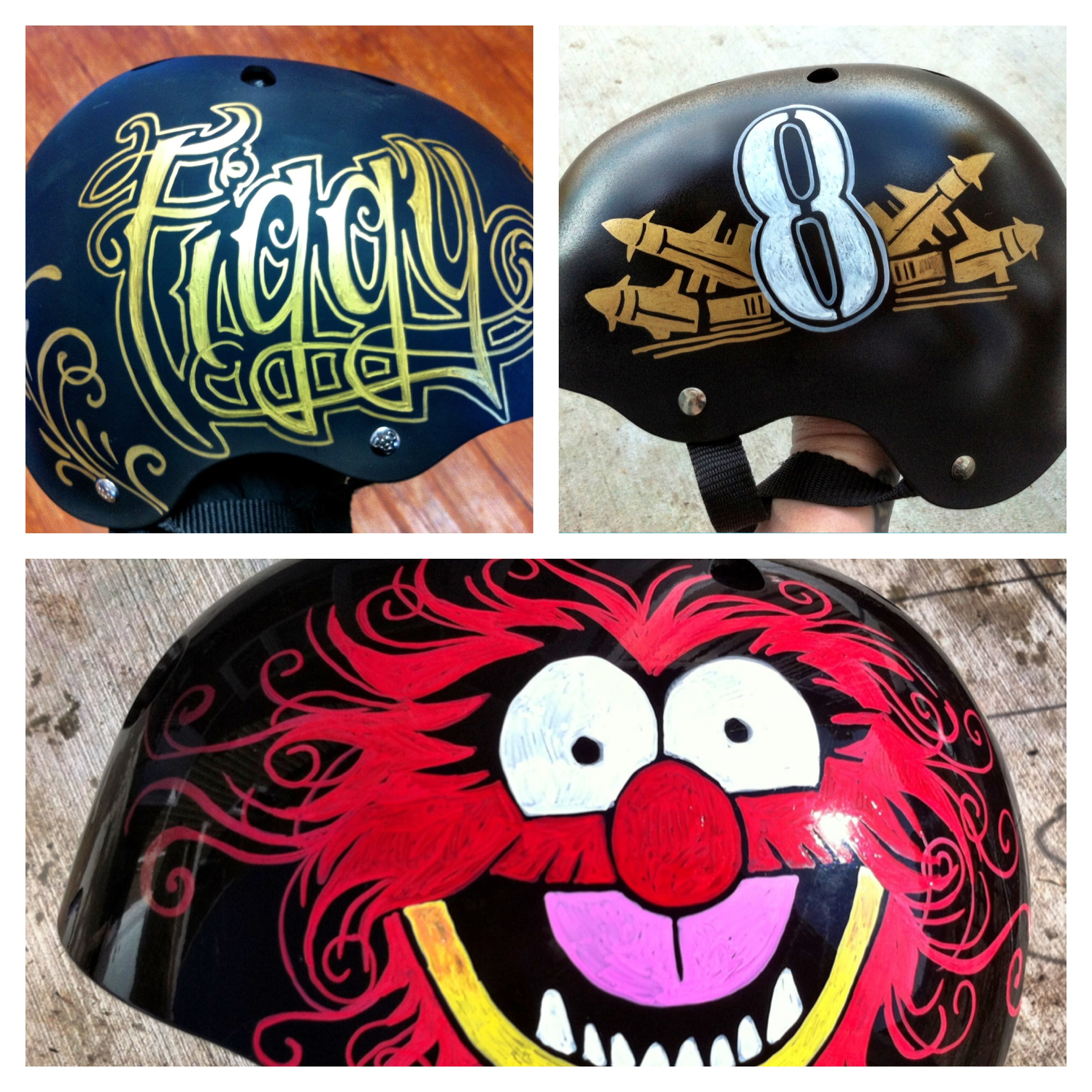 Diy customized helmets busy mockingbird for How much to paint a motorcycle