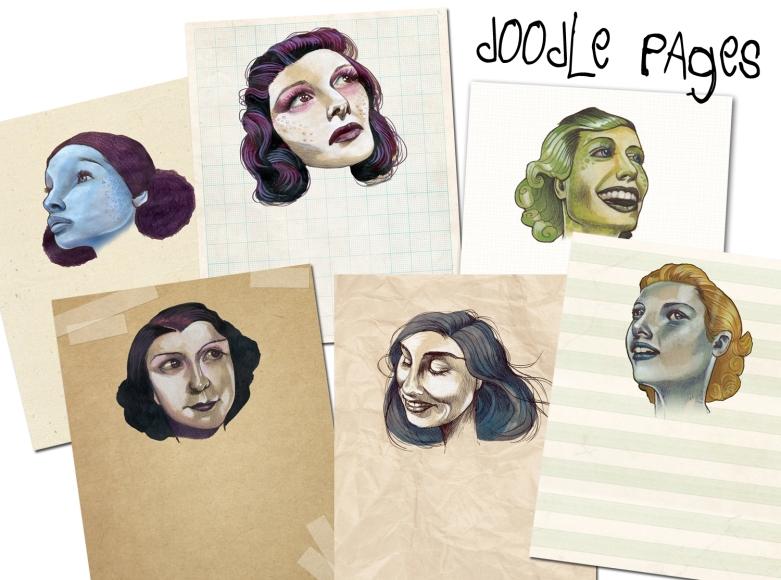 doodle pages set