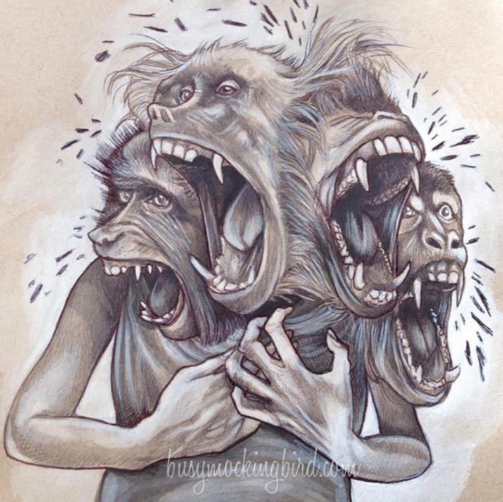 2 one screaming monkey