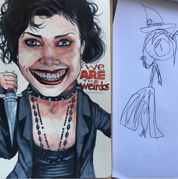 creepy witch
